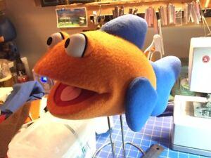 Brand New Custom-Made Professional Ventriloquist Fish Puppet