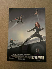 Marvel Captain America Civil War Black Widow Movie Poster