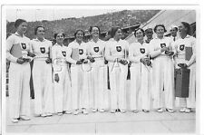 WWII GERMAN- Large 36 OLYMPIC Photo Image- Sports- German Women Gymnastics Team