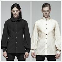 PUNK RAVE Men's Gothic Lantern Long Sleeves Blouse Steampunk Retro Party Shirt