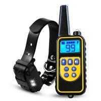 875Yard Dog Shock Electric Collar Rechargeable Waterproof Anti Bark Pet Training