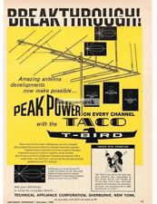 1960 TACO T-Bird Outdoor Television Antenna Peak Power Vtg Print Ad