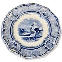 Antique 1861 Blue Transfer Plate CARRARA Pattern by J. Holland Staffordshire