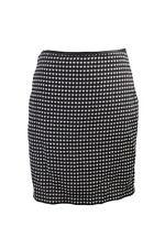 Studio M Black Heart-Print Tweedy Jacquard Skirt 2