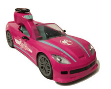 Mattel Barbie Pink Convertible Remote Control RC Car w/Lights 2018