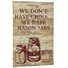 New Primitive Country Farmhouse Chic WE HAVE MASON JARS Tea Dish Hand Towel