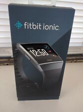 Fitbit Ionic Smartwatch, Charcoal/Smoke Gray, One Size (S&L Bands Included) NEW