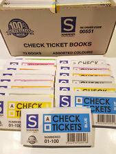 144 x Sovereign Raffle Tickets Check Books Door Prize 1-100 with 2 Boxes of 72