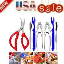 Seafood Tools Crab Crackers Nut Cracker Forks Set Opener Shellfish Lobster Leg