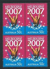 AUSTRALIA 2007 FINA World Championships MNH (SG 2767) in a Block of 4