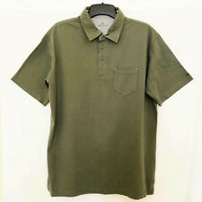 Woolrich Mens Polo Shirt Green Short Sleeves 100% Cotton Size XL