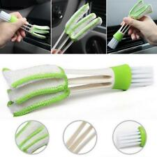 hot Car Vent Air-Condition Blind Cleaner Keyboard Duster 2 Heads Cleaning Brush
