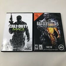Call of Duty Modern Warfare 3 & Battlefield 3 Limited Edition PC Video Game Lot