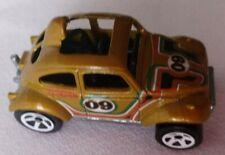 Hot Wheels VW Baja Blazin Bug 1983 GOLD Malaysia 1:64 Vintage
