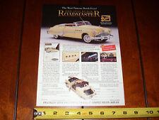 1949 BUICK ROADMASTER RIVIERA FRANKLIN MINT - ORIGINAL 1994 AD