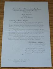 LETTER ENVELOPE KING GEORGES II HELLENES PRESITENT MARTINEZ ELSALVADOR 1936