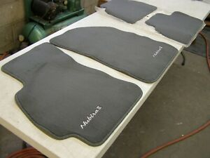 NOS OEM Daewoo Nubira II 2 Floor Mats Grey 1997 1998 1999 2000 2001 2002 Mat Set