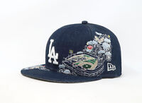 New Era 59Fifty Hat Mens MLB Los Angeles Dodgers Blue Denim Crafty Crook Cap