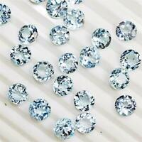 Wholesale Lot 9mm Round Facet Cut Natural Blue Topaz Loose Calibrated Gemstone