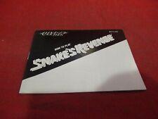 Snake's Revenge Nintendo NES Instruction Manual Booklet ONLY