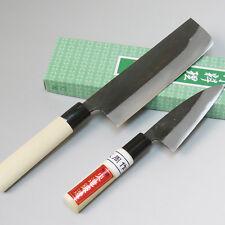 Japanese Kurouchi Kitchen Knives set, Nakri knife & Mini kitchen knife, Handmade