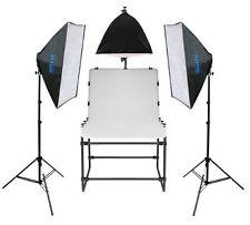 METTLE Studio-Set SYDNEY mit Fototisch Aufnahmetisch 200x100 cm & Beleuchtung