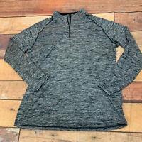 Under Armour Mens 1/4 Shirt Pullover Size XL Gray Black E121