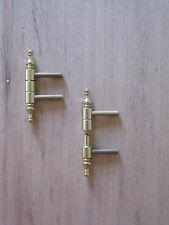 *1Stück ANUBA Messing Einbohrband mit Zierkopf Typ AN211-MS-GB-ZK-MS Möbelband