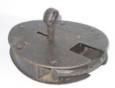 Vorhängeschloss, Bügelschloss, Nostalgie Stil, ei oval, funktioniert, 12x10cm