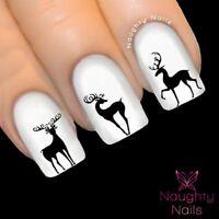 Reindeer Silhouette Christmas Nail Decal