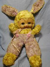 1950's Rubber Face Plush Stuffed Easter Bunny Rabbit ~ Rushton Star Creations