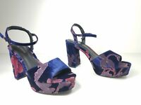 size 7.5 Call It Spring Raresen Navy Platform Sandals Ankle Strap Womens Shoes