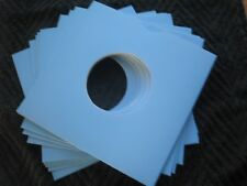 10 LIGHT BLUE CARD 7 INCH RECORD SLEEVES U.K. MADE. FREE POSTAGE !!!