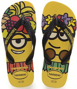 Havaianas Minions Holiday Citrus Yellow/ Black Rubber Flip Flops