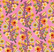OOP Tula Pink - MOON SHINE - Sprout Blush 100% cotton Fabric