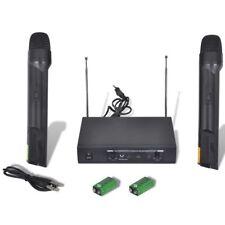 vidaXL 2xVHF Funkmikrofon Funk Mikrofon Wireless Funkmikro Empfänger Karaoke Set