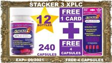 12 STACKER3 3 XPLC EXTREME PERFORMANCE 20 X 12 Bottles + (4 FREE)= 244 Capsules