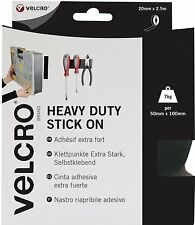 VELCRO HEAVY DUTY STICK ON ROLL OF BLACK 50mm X 2.5m   60245