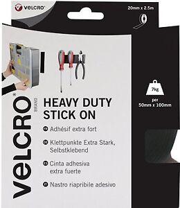 VELCRO HEAVY DUTY STICK ON ROLL OF BLACK 50mm X 2.5m   60245