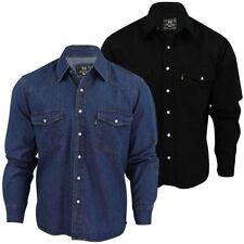 Camicie casual e maglie da uomo nessuna fantasia in denim