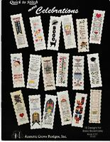 Quick to Stitch More Celebrations Bookmarks | Jeanette Crews 151 NEW!