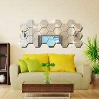Hexagon Acrylic Mirror Wall Stickers DIY Art Wall Decor Wall Stickers Home Decor