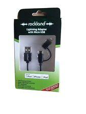 Rockland Cargador de coche con conexión Rayo (para iPhone, iPad) + Extra USB