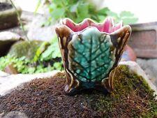 Ancien pot à fleurs miniature en barbotine d' Onnaing 6,2 cm