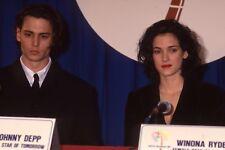Johnny Depp Winona Ryder 35mm Slide Transparency Photo Original 2247