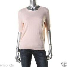 NEW Hugo Boss Soft Pink Virgin Wool Textured Crewneck Sweater T-Shirt Large L