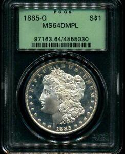 1885-O PCGS MS64 DMPL MORGAN DOLLAR OGH