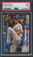 2020 Topps Series 1 #235 Dustin May Dodgers RC Rookie Card Graded PSA 9 Mint