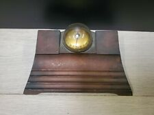 Rare Antique Thermo Vane 1920S Era Thermometer Art Deco Brass Double Inkwell
