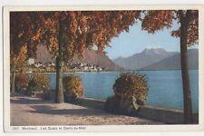 Switzerland, Montreux, Les Quais et Dents du Midi Postcard, B346